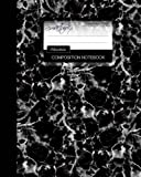 Marble Composition Notebook: College Ruled Writeræs Notebook for School / Teacher / Office / Student [ Perfect Bound * Large * Black & White ]