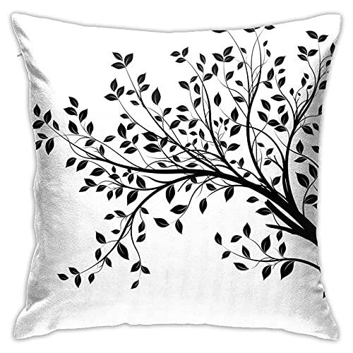 CHISHANG Weiße Baum Kissenbezüge 18x18...