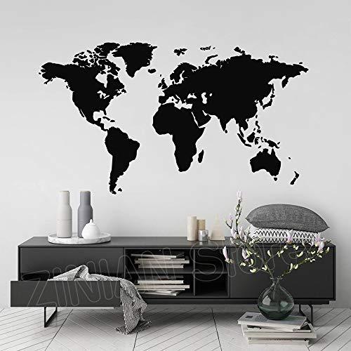 yaonuli Modern Wereldkaart Muursticker Huisdecoratie Woonkamer Kaart Vinyl Applique Slaapkamer Decoreren Mobiele Sticker