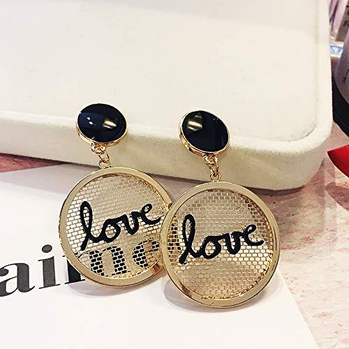Chwewxi Hong Kong-Stil Ohrringe Tennisschläger Gezeiten Temperament Ohrringe einfache koreanische Wilde, Gold