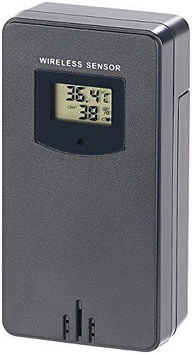 infactory Zubehör zu Thermometer mit App: Funk-Außensensor für FWS-350.bt & FWS-330.bt, IPX4, 60 m Reichweite (Funk-Thermometer/Hygrometer)