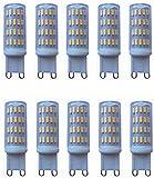 Ampoules LED Paquet de 10 basse tension 12-24 Volt AC/DC G9 Ampoules à LED Ampoules halogènes 40W Remplacement G9 Base Bi Pin Lights Led 3000K / 6000K (couleur, blanc froid), blanc chaud