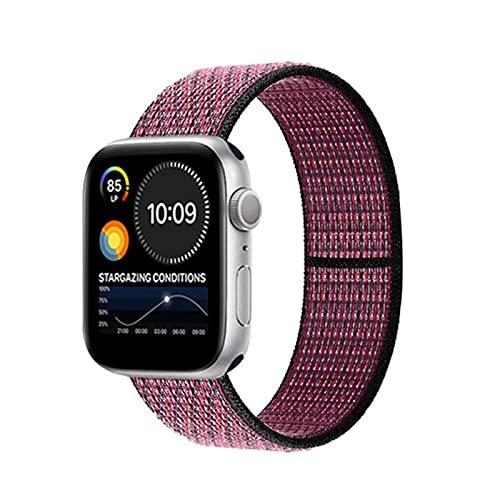 Correa para Apple Watch Band 40mm 44mm Pulsera Cinturón de nailon para iwatch Series 5 4 3 SE 6 38MM 42MM Correa de reloj