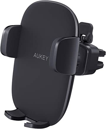 AUKEY Cell Phone Holder for Car Air Vent Phone Holder Car Mount Compatible with iPhone Xs / XS Max / 8 / 7 / 6, Google Pixel 3 XL, Samsung Galaxy S9+, and Other Phones, Black