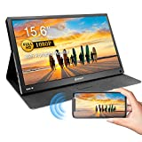 Wireless Portable Monitor, Corprit Wireless Display Airplay Miracast Monitor for iPhone Samsung Screen Mirroring, 15.6' 1080P FHD USB C Monitor HDMI External Secondary Display for Laptop PC PS4 Xbox