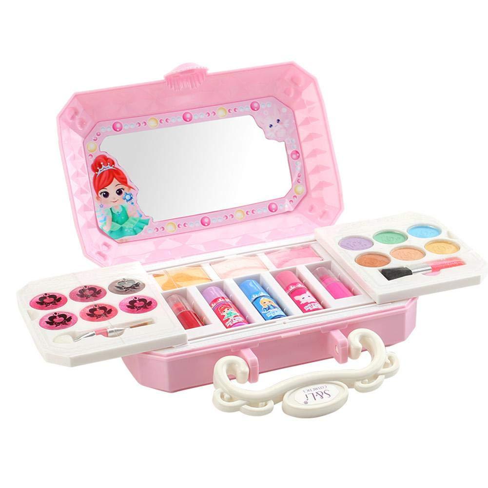 23 Piezas Estuche De Maquillaje De Princesa De Cosméticos Para Niños, Set Maquillaje Niña Juego De