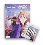 Princess Elsa Anna Coloring & Activity Book (Puzzles, Mazes, Word Search) & 10 Jumbo Crayons Bundle