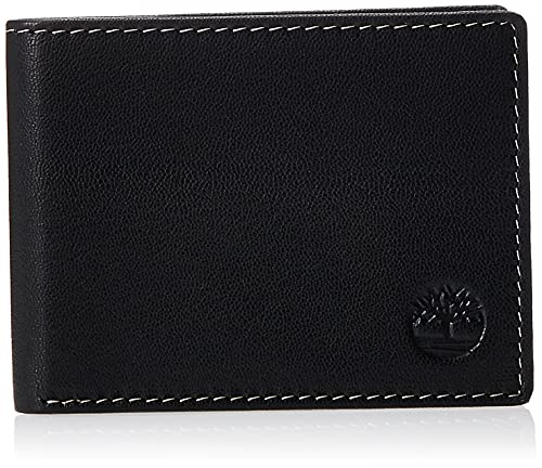 Timberland Men's Blix Slimfold Leather Wallet, Black, One Size