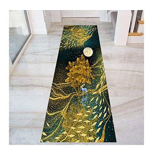 HAIPENG Colorful Hallway Runner Rug, Narrow Entryway Rugs, Front Door Mat for Entrance Kitchen Bedside Corridor, Non Shed Cuttable (Color : Multi-colored, Size : 80x600cm)