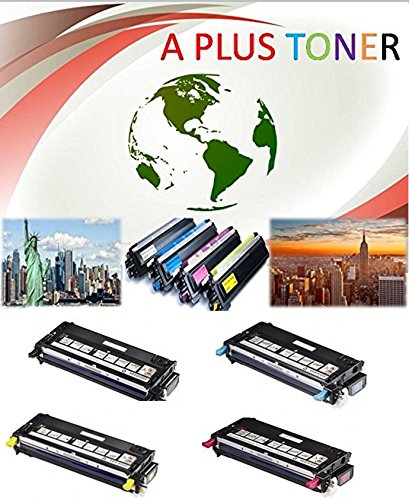 A plus Dell 3110cn Combo Set of 4 Remanufactured High Capacity and Good Quality Laser Toner Cartridges (Black, Cyan, Magenta, Yellow) Replaces Dell 310-8092, 310-8094, 310-8098, 310-8096