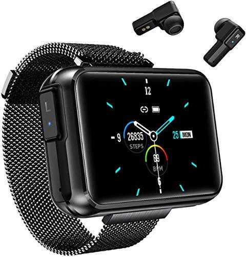 JIAJBG Reloj Inteligente de la Moda, con Bluetooth Dual, Monitor de Ritmo Cardíaco, a Prueba de Agua Aptitud Control de Actividad con Monitor de la Caloría Del Sueño Exquisito