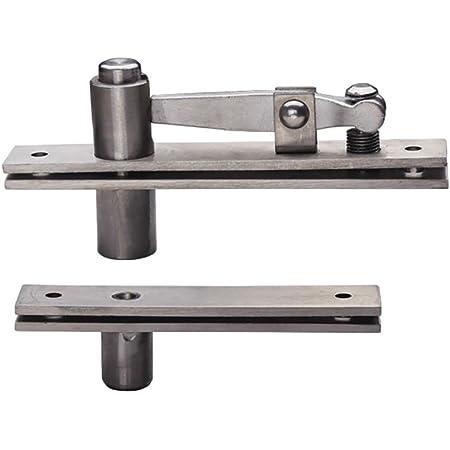 2x Stainless Steel Heavy Duty Door Hinge 360 Degree Pivot Hinges Up Down Shaft