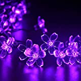UCTEK Solar String Lights, 21ft 50 LED Blossom String Fairy Garden Lights String, Flower Decorative for Outdoor, Home, Lawn, Wedding, Patio, Party and Holiday Decorations(Multi-Color)