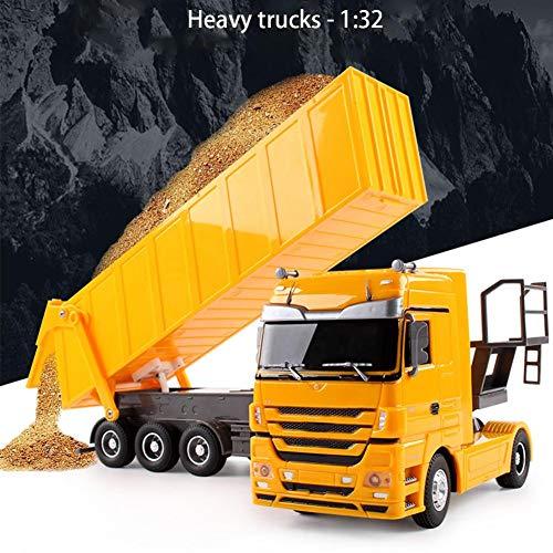 RC LKW kaufen LKW Bild 1: Etanby 1:32 RC Ferngesteuertes Bau LKW Fahrzeug Container Transporter Modell, 2,4 GHz 6-Kanal Ferngesteuertes Baustellenfahrzeug, Baustellenfahrzeug Mit Fernbedienung,Geeignet für Kinder über 6 Jahre*