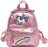 TENDYCOCO Mochila Unicorn Mochila con Estampado Glitter Mochilas Multiusos Soporte para Mujeres niñas (Color Rosa Oscuro)