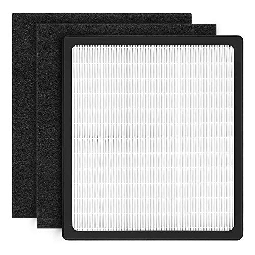YiL Air Purifier Filters Replacement for Idylis,Compatible with Idylis D, Idylis AC-2118, AC-2123, IAP-10-280,Includes 1 HEPA Filter & 2 Carbon Filters (Idylis D)