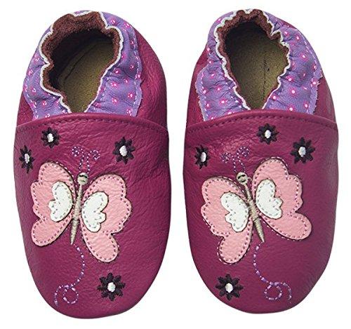 Rose & Chocolat Chaussures Bébé Butterfly Violet Taille 22/23 cm 12-18 Mois