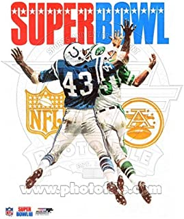 Super Bowl III NY Jets & Baltimore Colts Program Cover 1969 Photo 8x10