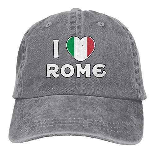 ONGH Männer Frauen Classic Denim Jeans Baseball Cap Rom Italien Verstellbare Snapback Cap