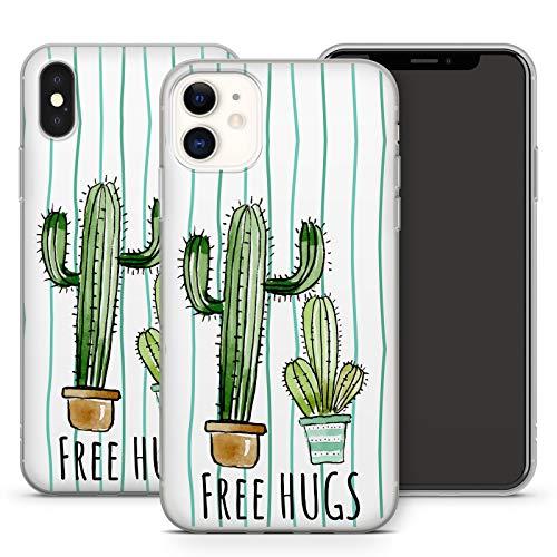 MMM Berlin - Cover per iPhone Apple, in silicone, motivo: Cactus Tropical Piante del deserto Peyote, compatibile con cellulari Apple iPhone 6/6S, design 3, in silicone trasparente