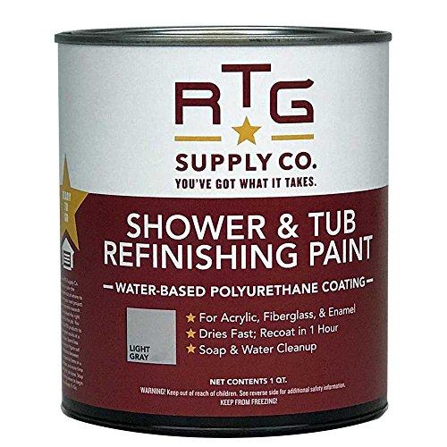 RTG Supply Shower & Tub Refinishing Paint (Light Gray)