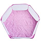 Portable <span class='highlight'>Small</span> Animal Playpen Breathable Pet Cage Tent Pop-Up Exercise Fence Transparent Yard Fences Folding Play Pen for Guinea Pig, Rabbits, Hamster, Chinchillas and Hedgehogs