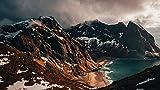 jukunlun 1500 Piezas Juego De Juguetes Educativos para Niños: Montañas, Islas Lofoten, Noruega, Rompecabezas De Madera 3D, Desafío Imposible para Adultos, Rompecabezas Clásico-87X57Cm
