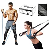 Flow State– Resistance Exercise Bands and Suspension Trainer Set – Complete Home Exercise Equipment for Indoor & Outdoor Use – Sports Resistance Bands and Suspension Straps Workout Set for Men & Women