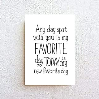 Favorite Day Winnie The Pooh Quote Typography Print on Fine Art Matte Paper