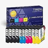 INBUSCO® 502 XL INBUSCO Multipack compatible con cartuchos de tinta Epson 502XL Epson Expression Home XP-5100 Series/XP-5105 Epson Workforce WF 2860 DWF WF-2865 DWF (10)