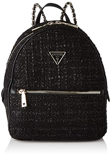 Guess Women's CESSILY Backpack Crossbody Bags, Black, 22x28x12 cm