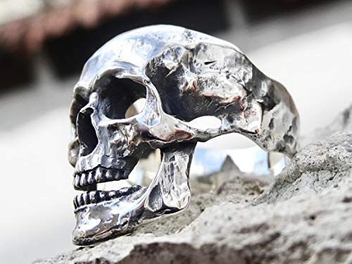 Sterling Silber 925 Totenkopf Ringe Poliert Schmuck Schädel Herren Männer Handgemacht Juwelen