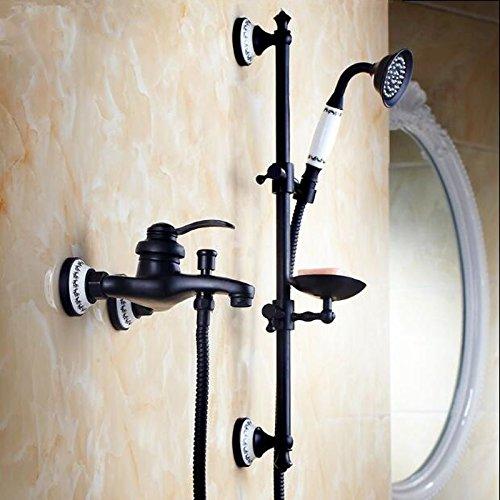 Luxurious shower Mit Handbrause schwarz orb Dusche Badezimmer schwarze Wand Mischbatterie Dusche mit Lifter Dusche Bad einfache Badewanne mixer Set, Rot
