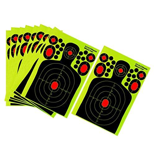 SM SunniMix 10pcs Bogen Zielscheibe Bogenschießen Ziel Papierauflage, 370 x 250 mm