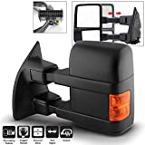 ACANII - For 2008-2016 Ford F250 F350 Super Duty Telescoping Power Heated w/LED Signal Towing Mirror Left Driver Side