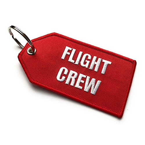 Flight Crew/Do Not Remove from Aicraft Luggage Tag | Medio | Rojo/Blanco | aviamart