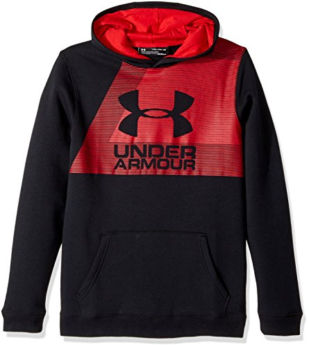 Under Armour Boy's Rival Hoody - Black, Small