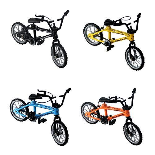 Finger Bikes BMX, Finger Mountain Bike, Mini modelo, adornos de montaña, juguetes de metal en miniatura para colección (traje)