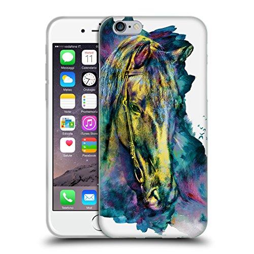 Head Case Designs Licenza Ufficiale Riza Peker Cavallo Animali Cover in Morbido Gel Compatibile con Apple iPhone 6 / iPhone 6s