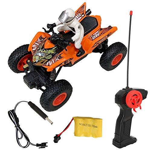 Dilwe RC Off-Road-Bike, Fernbedienung Quad Kunststoff Motorrad Spielzeug Spaß Geschenke für Kinder im Alter von über 8 Jahren(Orange)