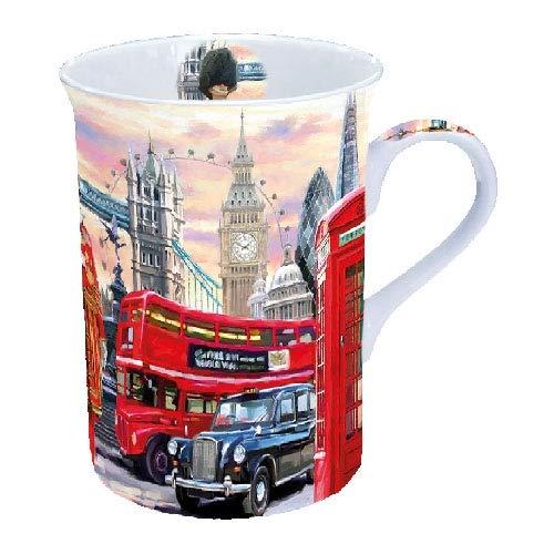 Ambiente - Taza de porcelana fina (0,25 L), diseño de Londres (impresa con imágenes icónicas de Londres)