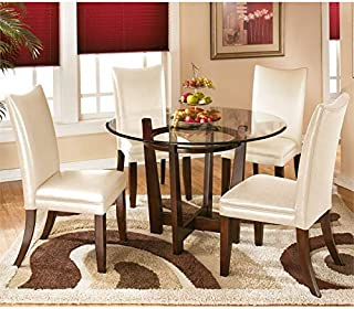 Best 5 piece glass dining table set Reviews