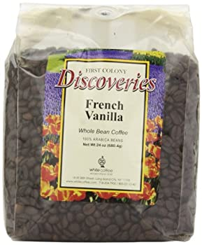 First Colony Whole Bean Coffee French Vanilla 24-Ounce