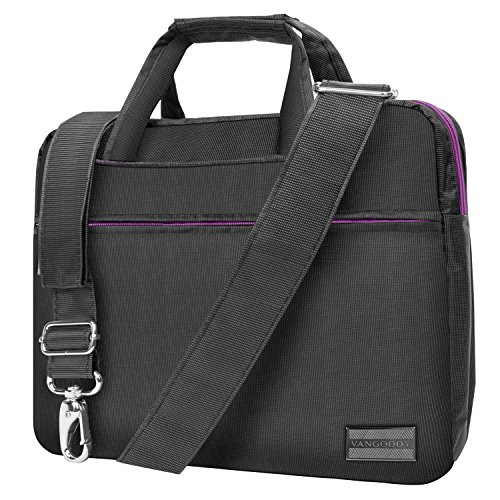 Metal Grey Purple Briefcase Messenger Bag for DBPower 9.5 inch 10.5 inch Portable DVD Player