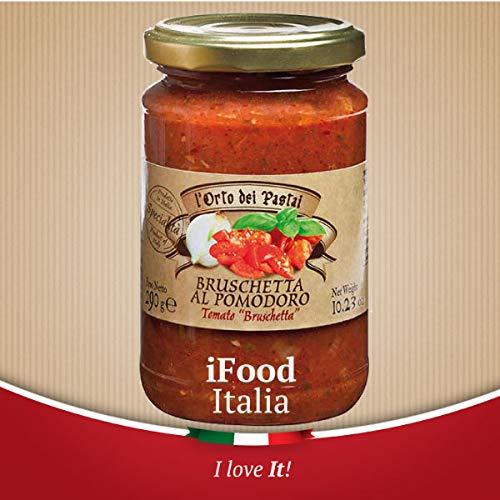 Homemade Spreadable Bruschetta with Tomato Sauce l'Orto dei Pastai iFood Italia 290g Umbria Made in Italy
