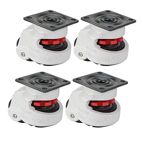 4pcs Ruedas giratorias 1.5 Rueda de nivelación retráctil Máquina industrial Rueda giratoria Capacidad de 330 libras