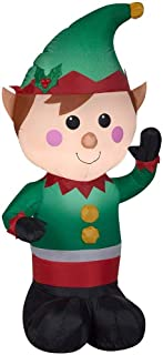 Christmas Inflatable LED Lighted Waving Elf Airblown Decoration By Gemmy (1)
