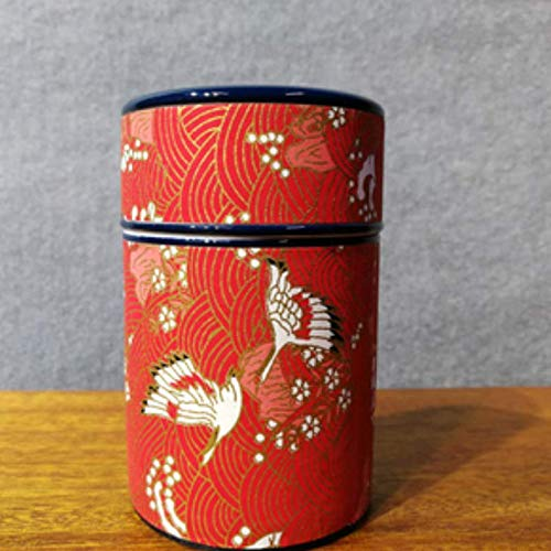 G.TZ Bestattungsurne Feuerbestattung Urnen für Asche Haustiere und Memorial - Hand Made In Keramik & Handaufkleber - Fliegender Kranich (10,4X6,5 cm)