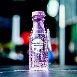 Tefamore Botellas Plastico Transparente Botella de Refresco con Cordón de Plástico Transparente Taza (Púrpura)