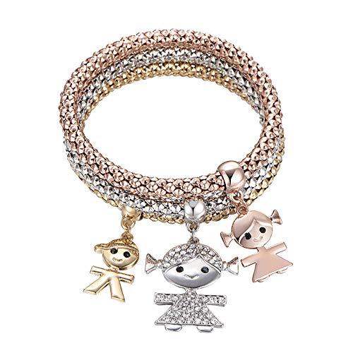 SDCAJA Women Bracelet, Cute Bracelet Stretch Chain Bracelet Cuff Bracelet Valentine's Day Gift